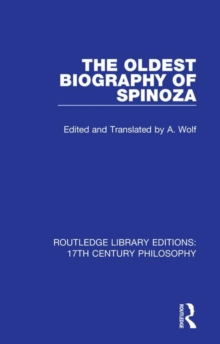 The Oldest Biography of Spinoza, Hardback Book
