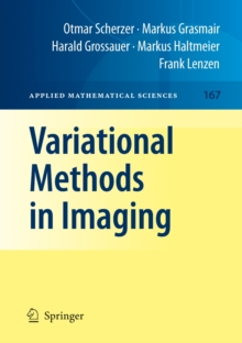 Variational Methods in Imaging, Hardback Book