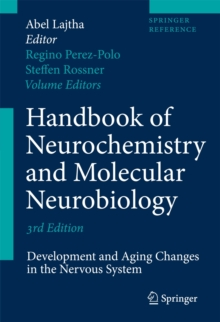 Handbook of Neurochemistry and Molecular Neurobiology : Development and Aging Changes in the Nervous System, Hardback Book