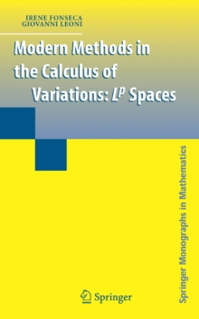 Modern Methods in the Calculus of Variations : L^p Spaces, Hardback Book