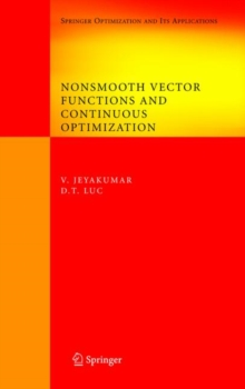 Nonsmooth Vector Functions and Continuous Optimization, Hardback Book