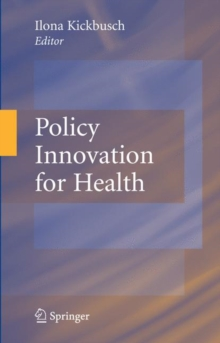 Policy Innovation for Health, Hardback Book