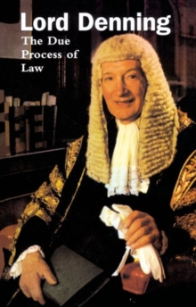 The Due Process of Law, Paperback Book