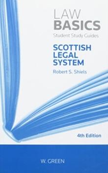 Scottish Legal System LawBasics, Paperback / softback Book
