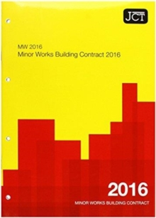 JCT:Minor Works Building Contract 2016 (MW), Paperback / softback Book