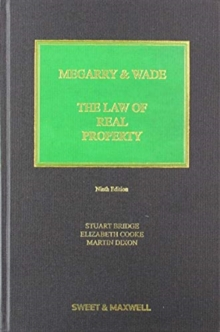 Megarry & Wade: The Law of Real Property, Hardback Book
