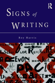 Signs of Writing, Hardback Book