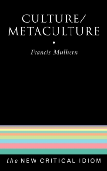 Culture/Metaculture, Paperback / softback Book