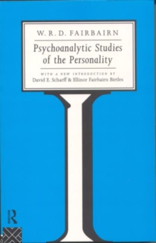 Psychoanalytic Studies of the Personality, Paperback Book
