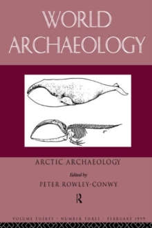 Arctic Archaeology, Paperback Book