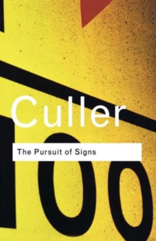 The Pursuit of Signs, Paperback Book