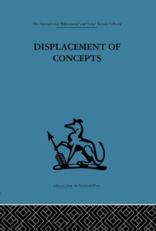 Displacement of Concepts, Hardback Book
