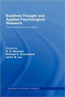Buddhist Thought and Applied Psychological Research : Transcending the Boundaries, Hardback Book