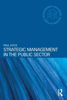 Strategic Management in the Public Sector, Paperback / softback Book