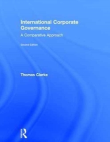 International Corporate Governance : A Comparative Approach, Hardback Book