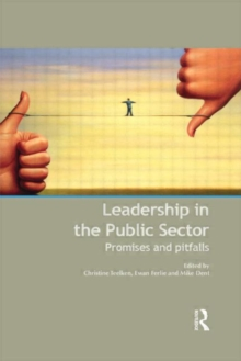 Leadership in the Public Sector : Promises and Pitfalls, Hardback Book