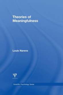 Theories of Meaningfulness, Paperback / softback Book