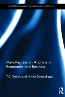Meta-Regression Analysis in Economics and Business, Hardback Book