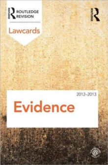 Evidence Lawcards 2012-2013, Paperback / softback Book