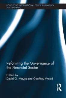 Reforming the Governance of the Financial Sector, Hardback Book