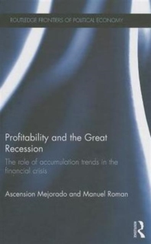 Profitability and the Great Recession : The Role of Accumulation Trends in the Financial Crisis, Hardback Book