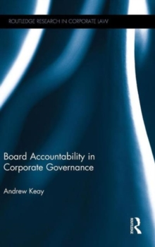 Board Accountability in Corporate Governance, Hardback Book