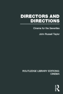 Directors and Directions : Cinema for the Seventies, Hardback Book
