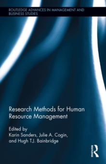 Research Methods for Human Resource Management, Hardback Book