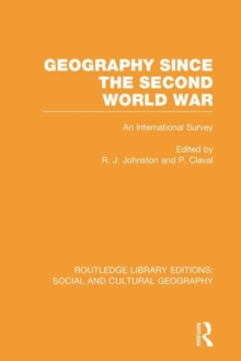 Geography Since the Second World War, Hardback Book