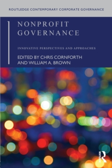 Nonprofit Governance : Innovative Perspectives and Approaches, Paperback Book