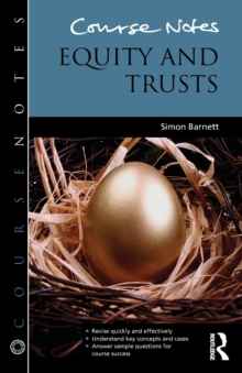 Course Notes: Equity and Trusts, Paperback / softback Book
