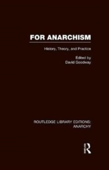 For Anarchism, Hardback Book