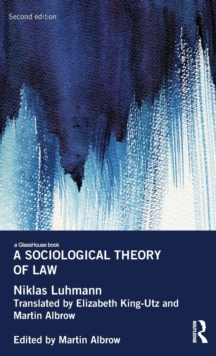 A Sociological Theory of Law, Hardback Book