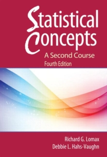 Statistical Concepts : A Second Course, Paperback Book