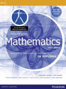 Pearson Baccalaureate  Higher Level Mathematics second edition print and ebook bundle for the IB Diploma, Mixed media product Book