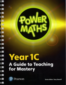 Power Maths Year 1 Teacher Guide 1C, Spiral bound Book