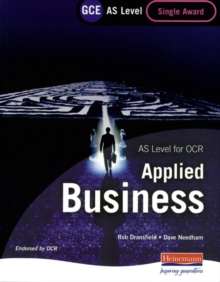GCE AS Level Applied Business Single Award for OCR, Paperback Book