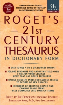 Roget's 21St Thesaurus 3Rd Edition, Paperback Book