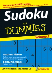 Su Doku For Dummies : v. 2, Paperback Book