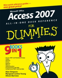 Microsoft Office Access 2007 All-in-one Desk Reference For Dummies, Paperback Book