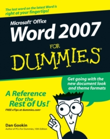 Word 2007 for Dummies, Paperback Book