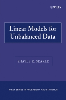 Linear Models for Unbalanced Data, Paperback / softback Book