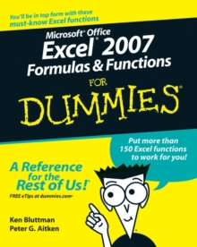 Microsoft Office Excel 2007 Formulas and Functions For Dummies, Paperback Book