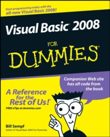 Visual Basic 2008 For Dummies, Paperback Book