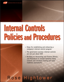 Internal Controls Policies and Procedures, Paperback / softback Book