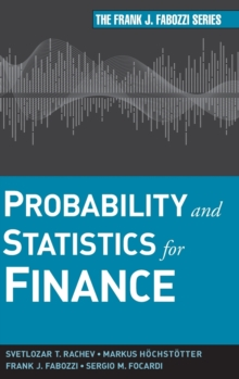 Probability and Statistics for Finance, Hardback Book