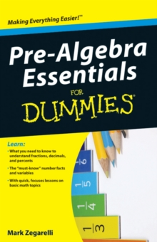 Pre-algebra Essentials for Dummies, Paperback Book