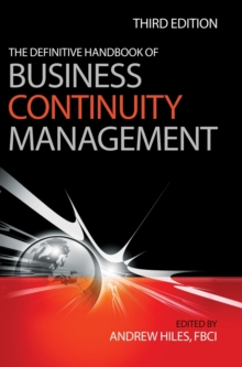 The Definitive Handbook of Business Continuity Management, Hardback Book