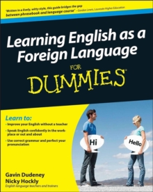 Learning English as a Foreign Language For Dummies, Paperback Book