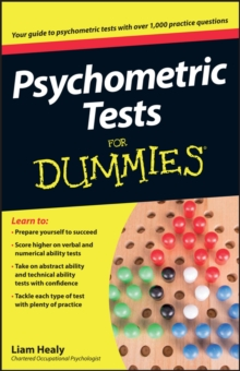 Psychometric Tests For Dummies, Paperback Book